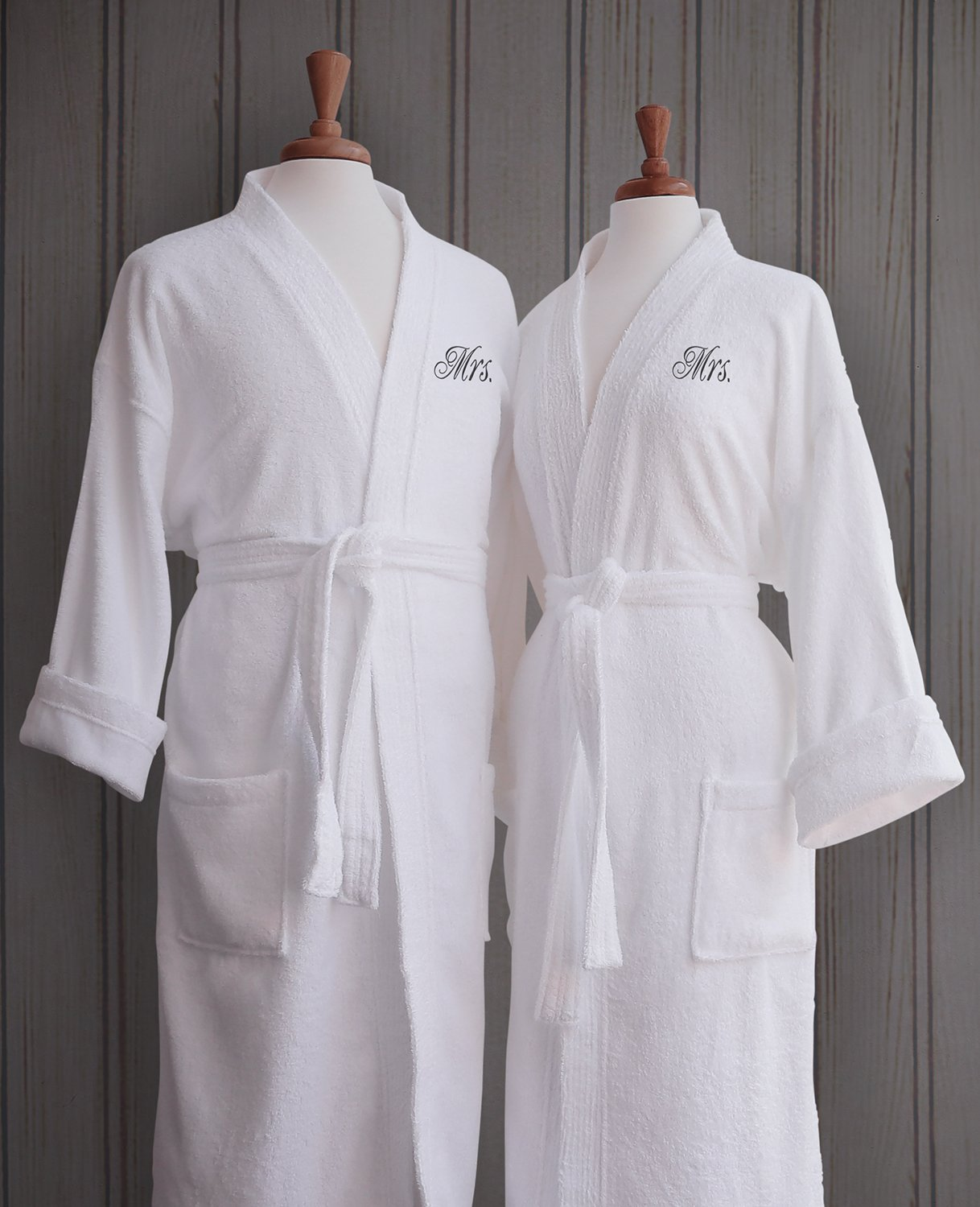 ad49162215 Luxor Linens - Terry Cloth Bathrobes - 100% Egyptian Cotton Mr.  Mrs.