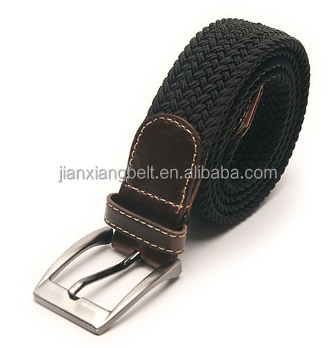 2014 cotton canvas polyester comfortable elastic stretch web belts new customized wholesale