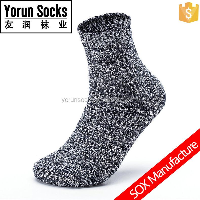 Customized men's snow flake knitted cotton socks winter socks