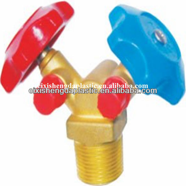 Gas bottle valves for refrigerant