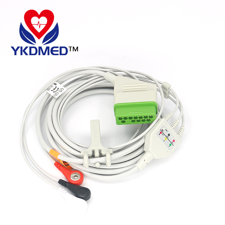 Factory Outlet Nihon Kohden BSM-2301 AHA 3 lead 12pin reusable ecg cable for patient monitor
