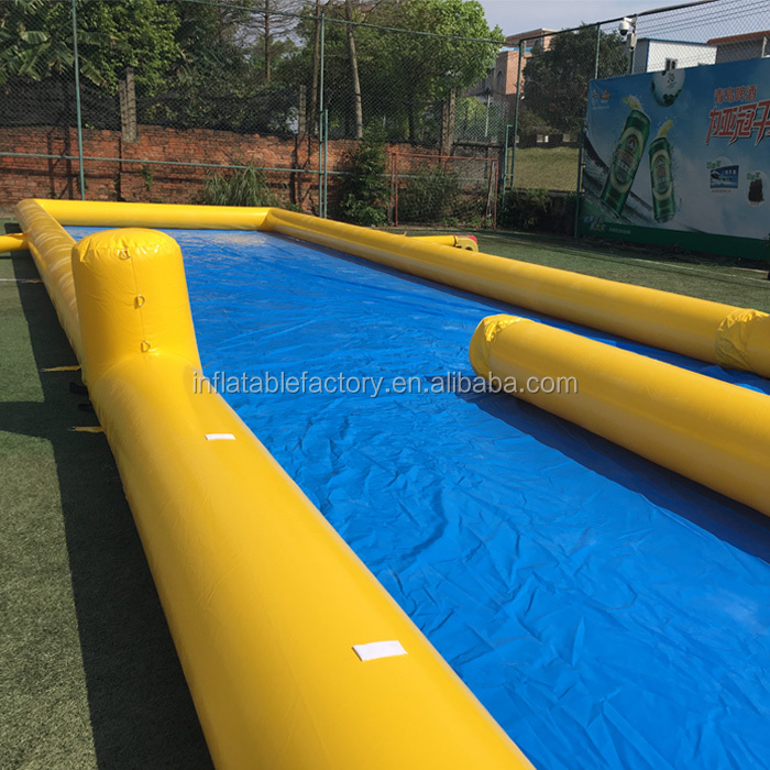2018 long largest water inflatable city slide n slip