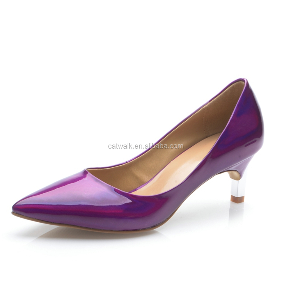 Royal Blue Low Heel Shoes