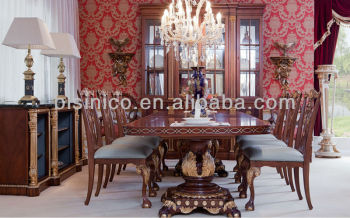Luxury Dining Room Furniture Set, Antique Classical Dining Sets Furniture,  British Windsor Castle Style