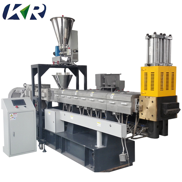 Pet/pe/pp/pc/pa compounding plastic pellet maken machine