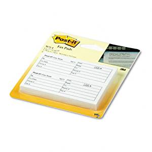 buy post it fax transmittal notes 1 1 2 x 4 white four 50 sheet