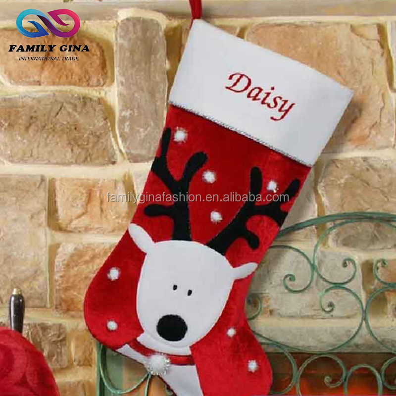 Monogrammed Deer Paw Christmas Stocking
