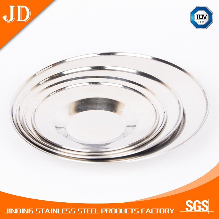 Exquisite Small Size Stainless Steel Hammered Round Shape Dish/dishes/Platter
