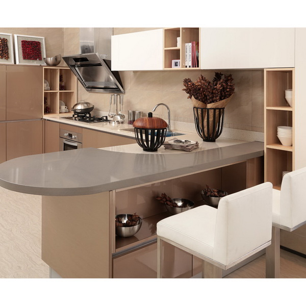 2014 oppein de acr lico del gabinete de cocina modernos