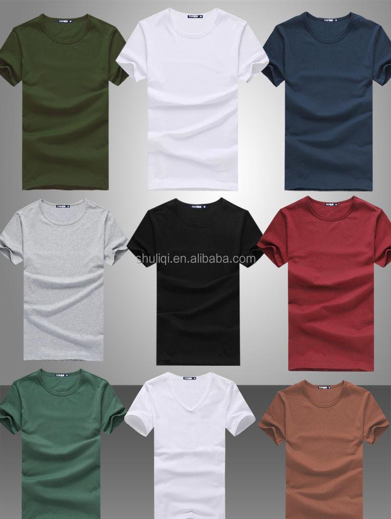 Wholesale Cheap Plain White T Shirts Different Solid Color