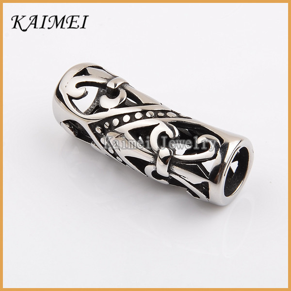 New Design Popular Fashion Jewelry Findings Curved Custom Jewelry Metal Tube Spacer Beads