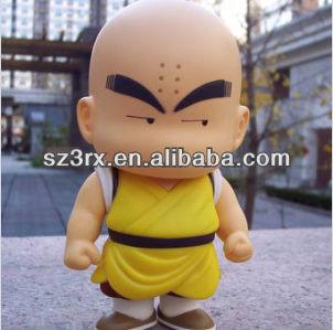 Carino calvo monaco personaggio dei cartoni animati figura soft