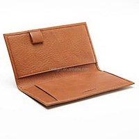 Fashion Leather Side Tear Checkbook Cover black cheque book cover