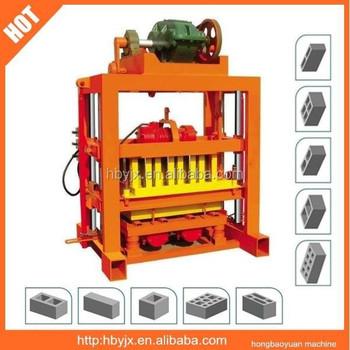 Qt4 40 Manual Concrete Block Making Machine Price List In