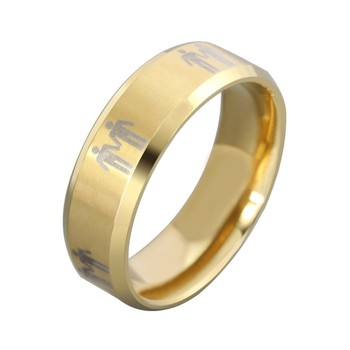 2015 latest stainless steel gold gay wedding ringgay men ring jewelry - Gay Wedding Ring
