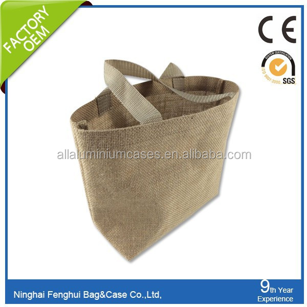 Top packing high quality custom printed natural jute bag for sale