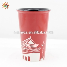 Professional customized logo printing decorative ceramic coffee cup