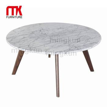 Round Marble Top And Oak Leg Marble Coffee Table Sofa Table Buy