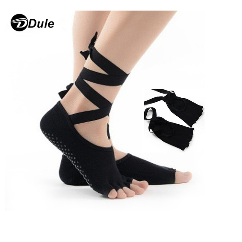 DL-II-1102 yoga socks toeless open toe socks cotton knitted yoga socks