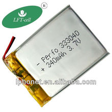 340mah 333040 3.7V digital camera lithium polymer battery