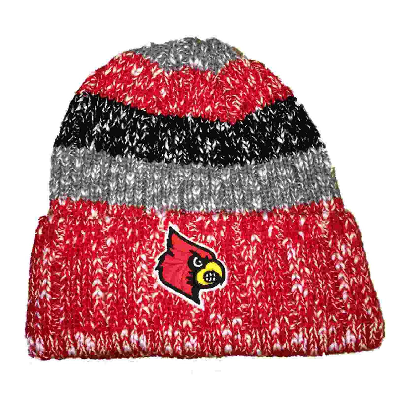 Get Quotations · Louisville Cardinals TOW Black Gray   Red Striped Cuffed Skull  Beanie Hat Cap cf6d372ecbb9