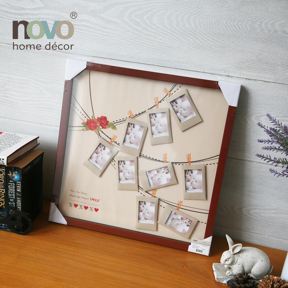 Bebé de madera marcos de fotos creativo cartel marcos colocado pared ...