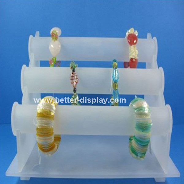 Clear Crystal Acrylic Bracelet Display Holder