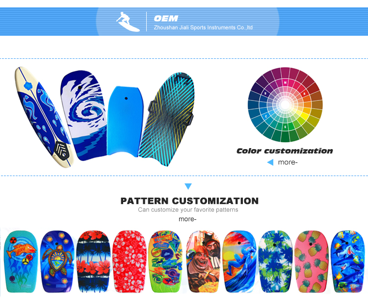 Chinese factory Super quality customized 26'' bodyboard swimming board for kids,bodyboards eps boogie boards