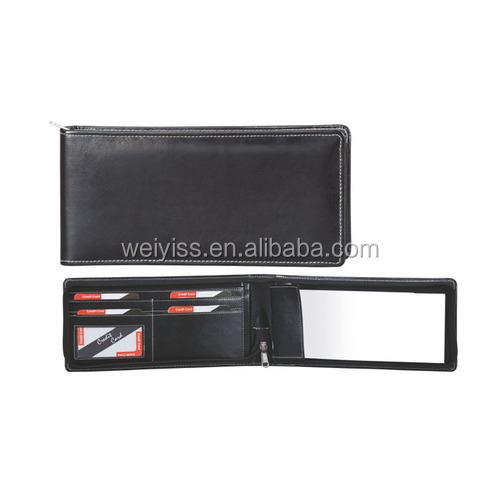 2019 standard PU leather cheque book for restaurant