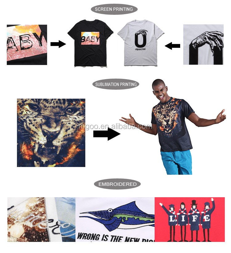 Customized Manufacturer OEM All Over Printing T-shirts Camo Sublimation Printed Clothing American Street Style Apparel