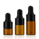 1ml/2ml/3ml Small Glass Vials with Pure Glass Dropper Cap Small Essential Mini Amber Oil Dropper Bottle