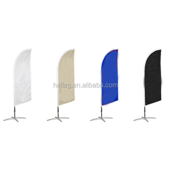 Costom Square Exhibition Beach Flag Outdoor Advertising Beach Flag The Knife Flag