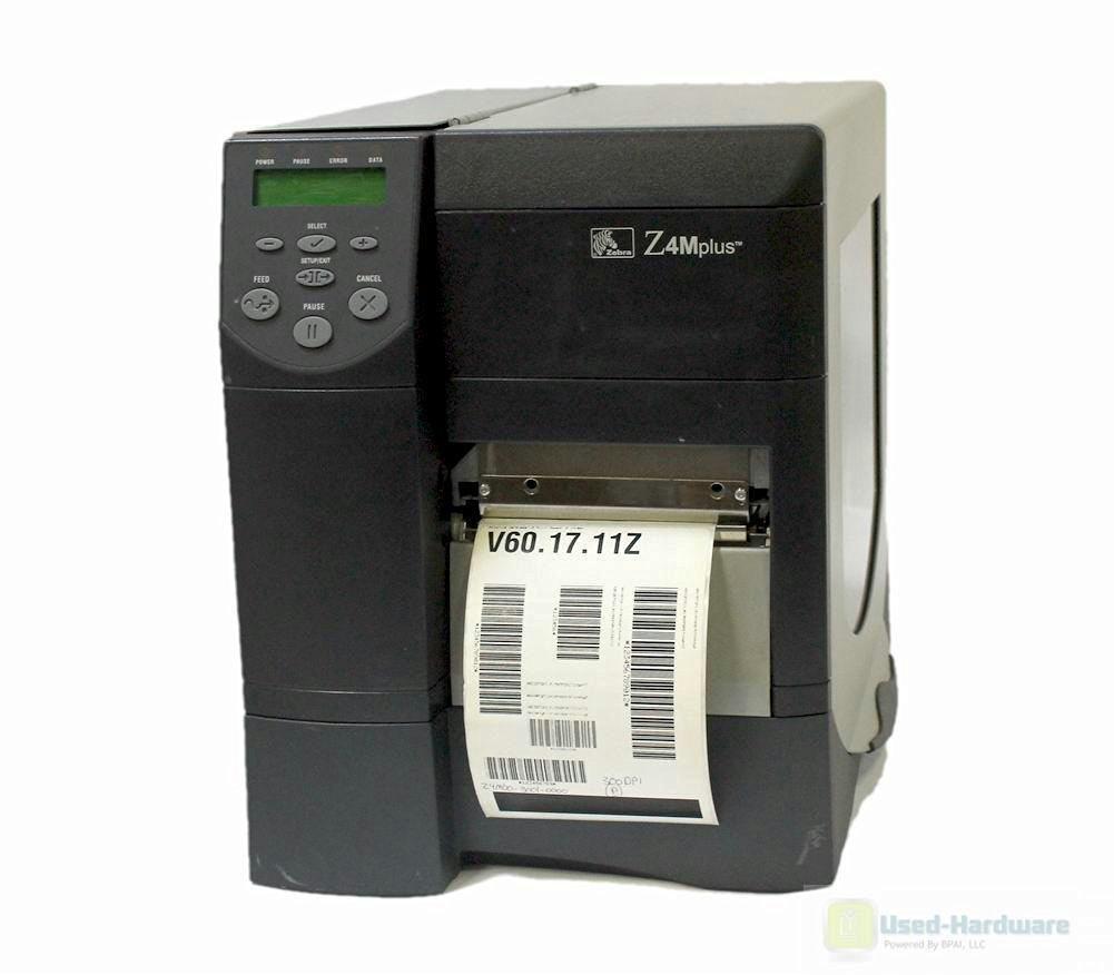 Zebra Z4M Plus Z4M00-3001-0020 Thermal Transfer Barcode Printer Network 300 DPI