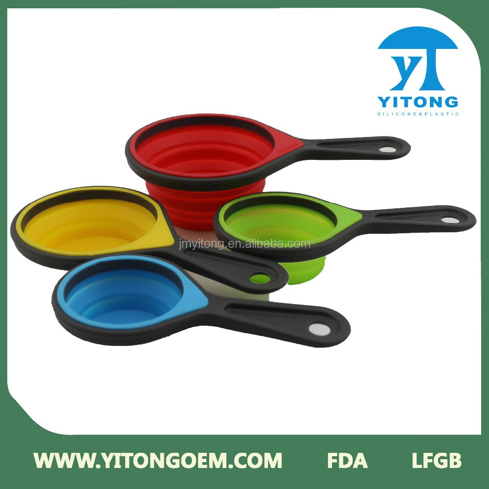 FDA Grade Silicone Collapsible Measuring Cups Spoons,Portable Measuring  Tools Set For Kitchen