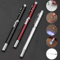 Hot Selling Metal Black Multifunctional Teach Tool Pen 4-IN-1 Laser LED torch Magnetic Telescopic Pointer Ballpoint Pen with box