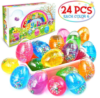 ZF68 2019 hot selling Made in ChinaCreative Soft Egg Slime Clear Colorful Crystal Fluffy Slime Stress Relief egg Slime putty toy