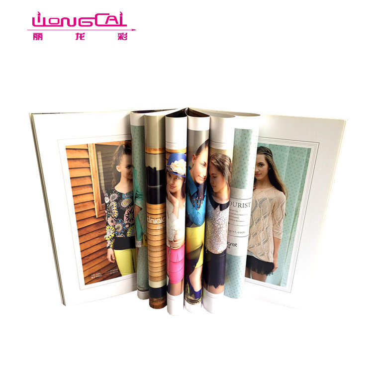 High Quality Customized glossy magazine printing photo book printing services