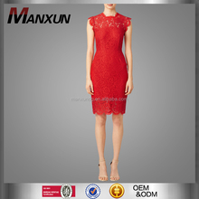 Elegant Women Clothing Dress Bodycon Lace Red Cocktail Dress Ladies Fashion Dresses With Pictures