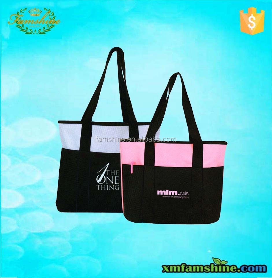 customized 600 denier polyester tote bag