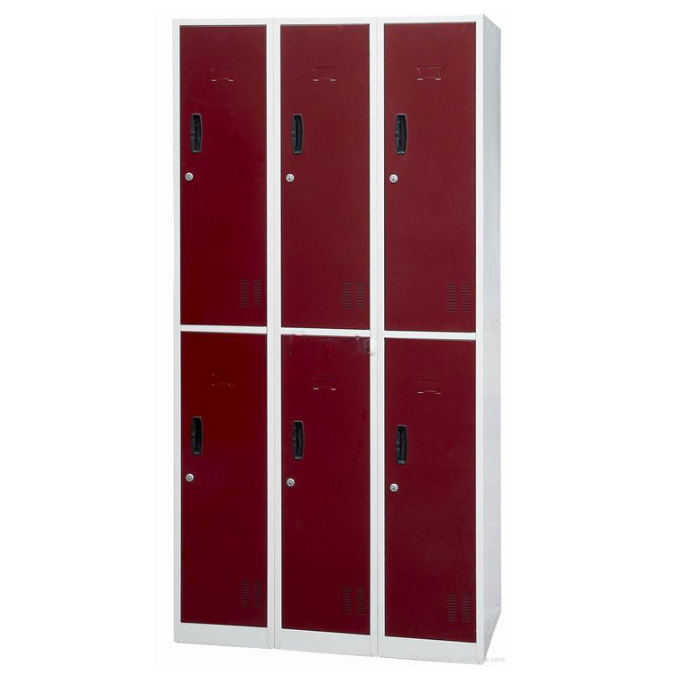 6 compartment wardrobe gym steel clothes locker small for Locker loop dress shirt