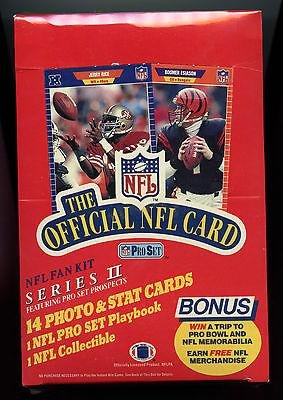 Buy 1989 Pro Set Football Card Wax Pack Box Series 2 Barry