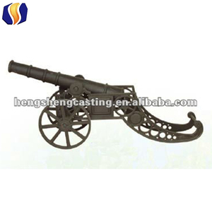 antique model cast iron cannon