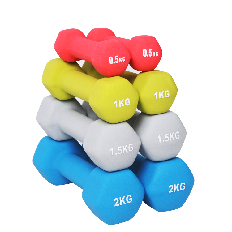 Gym neoprene dumbbell body building vinyl hand weights in pound