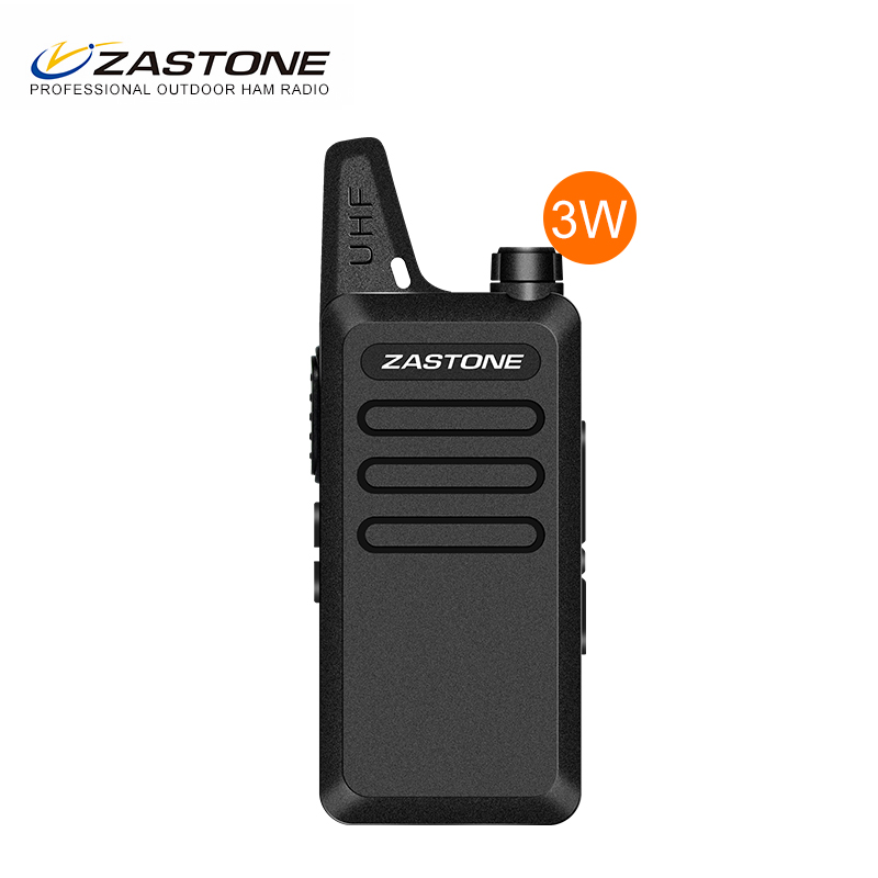 2017 ZASTONE X6 3w 0.5w 16ch high low power mini two way radio handheld licence free walkie talkie