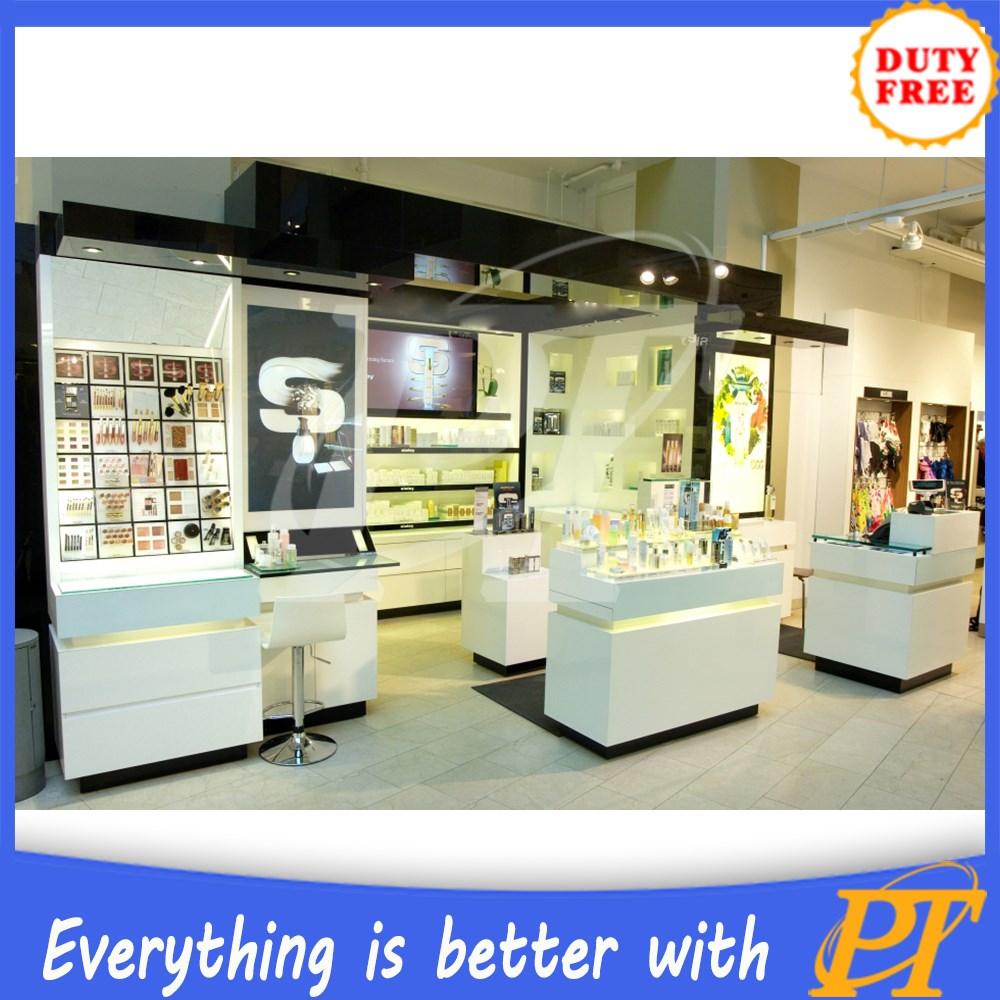 Top Counter Acrylic Cosmetics Modular Display Make Up