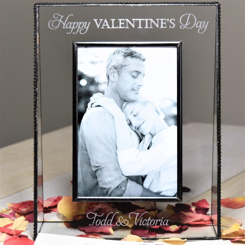 J Devlin Pic 319-46V EP574 Valentine's Day Gift Personalized 4x6 Glass Picture Frame Vertical Portrait Photo Frame