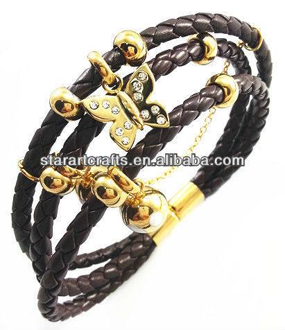 YB267 Many colors leather bracelets import from china