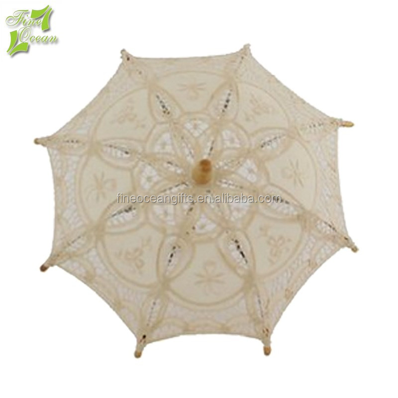 White chinese lace cheap italy souvenir gift deco favors wedding umbrella