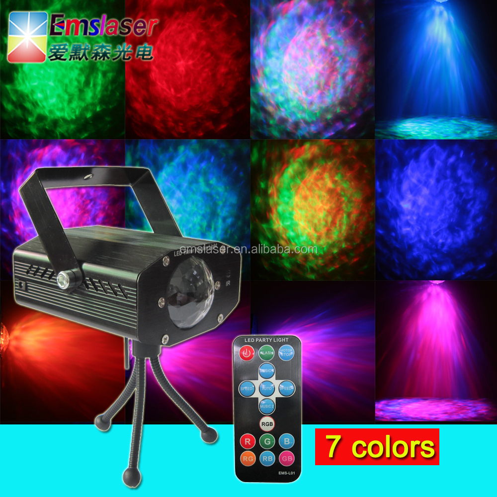 New led water dropping lights RGB led water ripples effect stage light with remote control