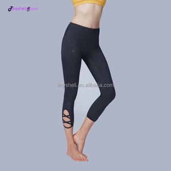 54a3213b417e Women hottest custom made high waist skinny sexy strappy nylon breathable  compression yoga capris pants workout